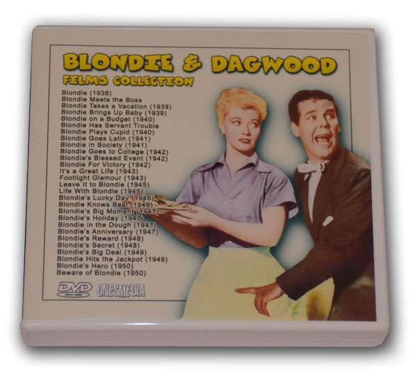 BLONDIE AND DAGWOOD FILMS COLLECTION 14 DVD-R - 28 MOVIES ...